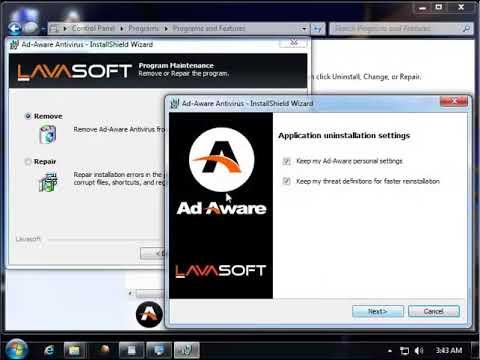 Как удалить Ad Aware Antivirus
