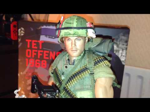 Up close Damtoys US marine Tet offensive 1968 1/6 scale figure with all accessories on Vietnam war
