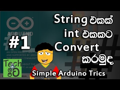 How To Convert String To Int In Arduino Sinhalen | Tech Latapata - Simple Arduino
