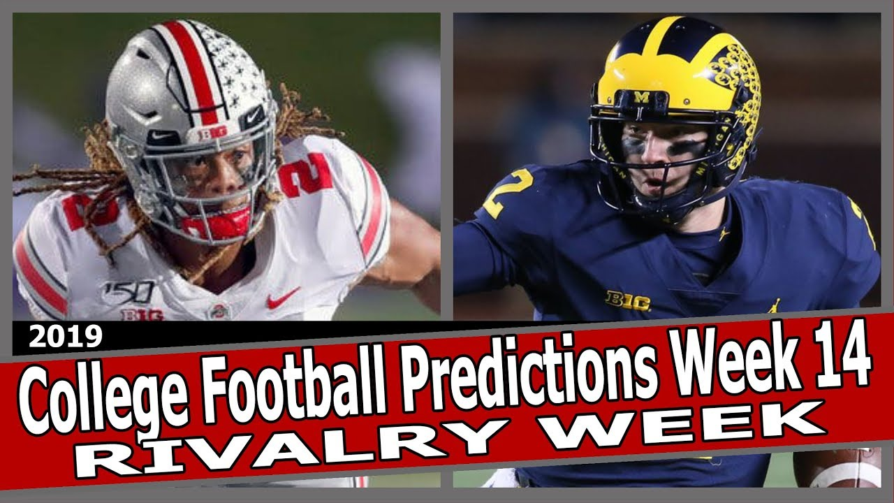 College football odds, picks, lines, spreads for Rivalry Week, 2019 ...