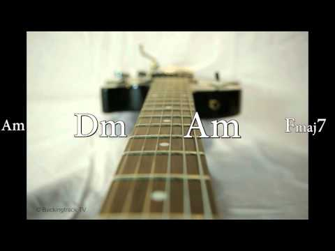 Sad Blues Guitar Backing Track in Am