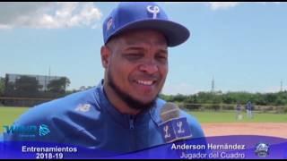 Entrevistas Rymer Liriano y Anderson Hernández desde entrenamientos Licey