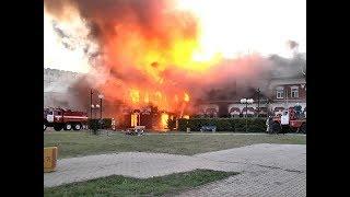 В центре Канска сгорело историческое здание типографии