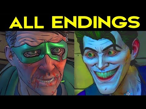 BATMAN Telltale Season 2 ALL ENDINGS (Bad Ending 1 + Good Ending 2) + SECRET ENDING