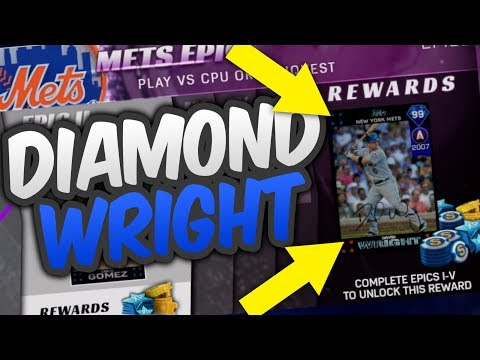 99 DIAMOND DAVID WRIGHT NEW YORK METS TEAM EPIC! | MLB THE SHOW 17 DIAMOND DYNASTY