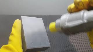 [샌딩몰] 열처리 후 금강사로 샌드블라스트 표면처리 작…