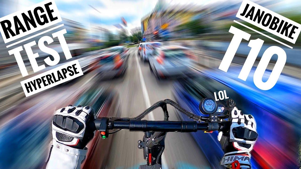 Janobike T10 Range Test - Hyperlapse Through Warsaw's Traffic & Nature on eScooter