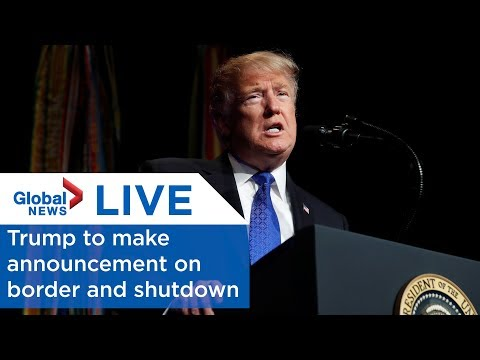 LIVE: Trump says he\'ll make a \'major announcement\' about the border and the shutdown