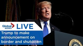 LIVE: Trump says he'll make a 'major announcement' about the border and the shutdown thumbnail