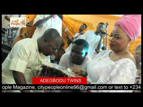 ADEGBODU TWINS SING FOR FEMI SOLAR AT CITY PEOPLE