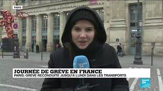 Journée de grève en France : dans les transports, la grève reconduite jusqu'à lundi
