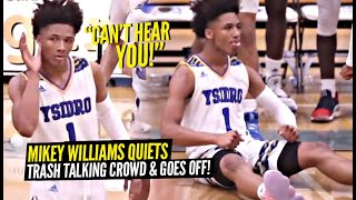 Mikey Williams QUIETS TRASH TALKING Crowd w/ CRAZY NBA Range 3's & WILD Buckets! Mikey Wants SMOKE!