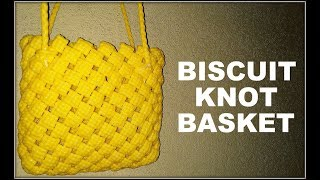 Biscuit Knot Basket in Kannada | BangaloreBasket | BasketMaking