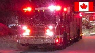 Kirkland | Montréal Fire Service (SIM) Pumper 254 Responding in Snowstorm
