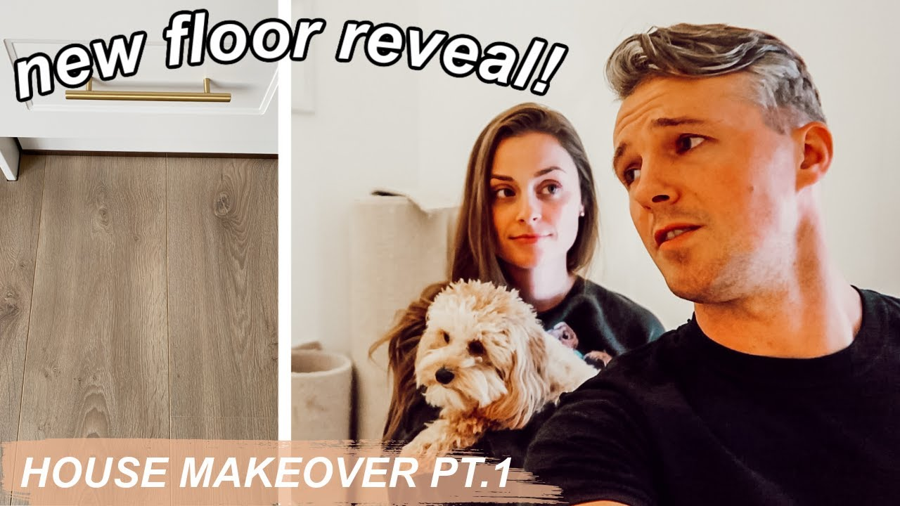 GETTING OUR NEW FLOORING!! *it did not go to plan* HOUSE MAKEOVER PT.1!