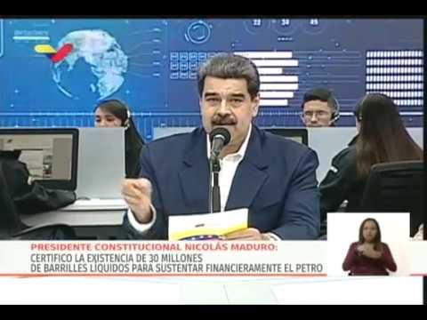Presidente Maduro muestra video de cómo registrarse en la PetroApp