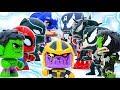 HULK & AVENGER Transform Defeat THANOS  & Venomized #Toymarvel