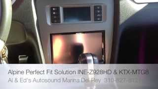 Alpine Electronics Perfect Fit Solution Ford Mustang 2010-2013 KTX-MTG8 INE-Z928HD Installed