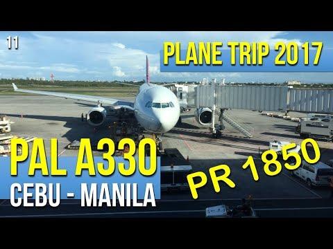 Philippine Airlines A330 PR1850 Cebu to Manila (052017)
