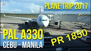 Philippine Airlines A330 PR1850 Cebu to Manila (052017) thumbnail