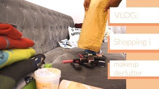 Vlog shopping i makeup declutter + giveaway!