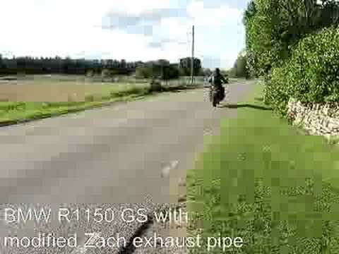 BMW R1150GS with Zach exhaust pipe / slipon