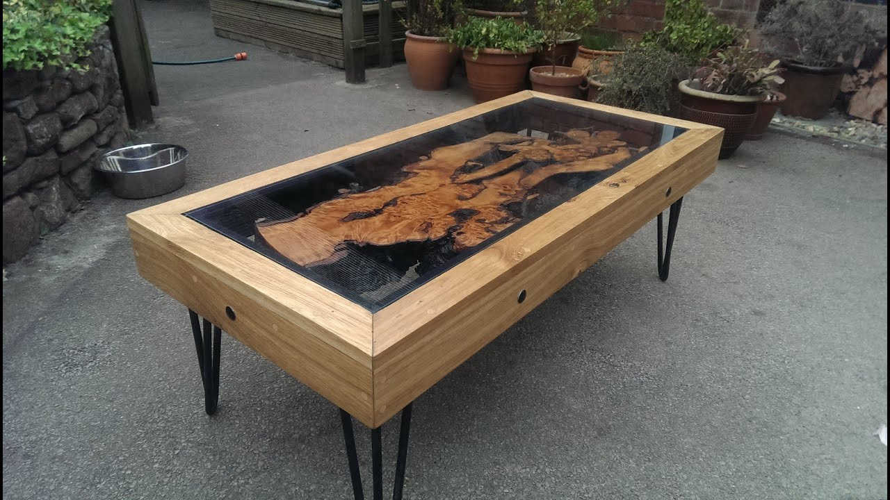 Tree Root Oak And Glass Coffee Table Reborn From Disaster