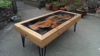 Tree Root, Oak And Glass Coffee Table: Reborn From Disaster............... DSNERV