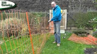 Gartentipp Oktober 1004 Hühner Freigehege mit Geflügelnetz erweitern