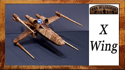 How To Make A Star Wars X-Wing Starfighter / Woodworking projects