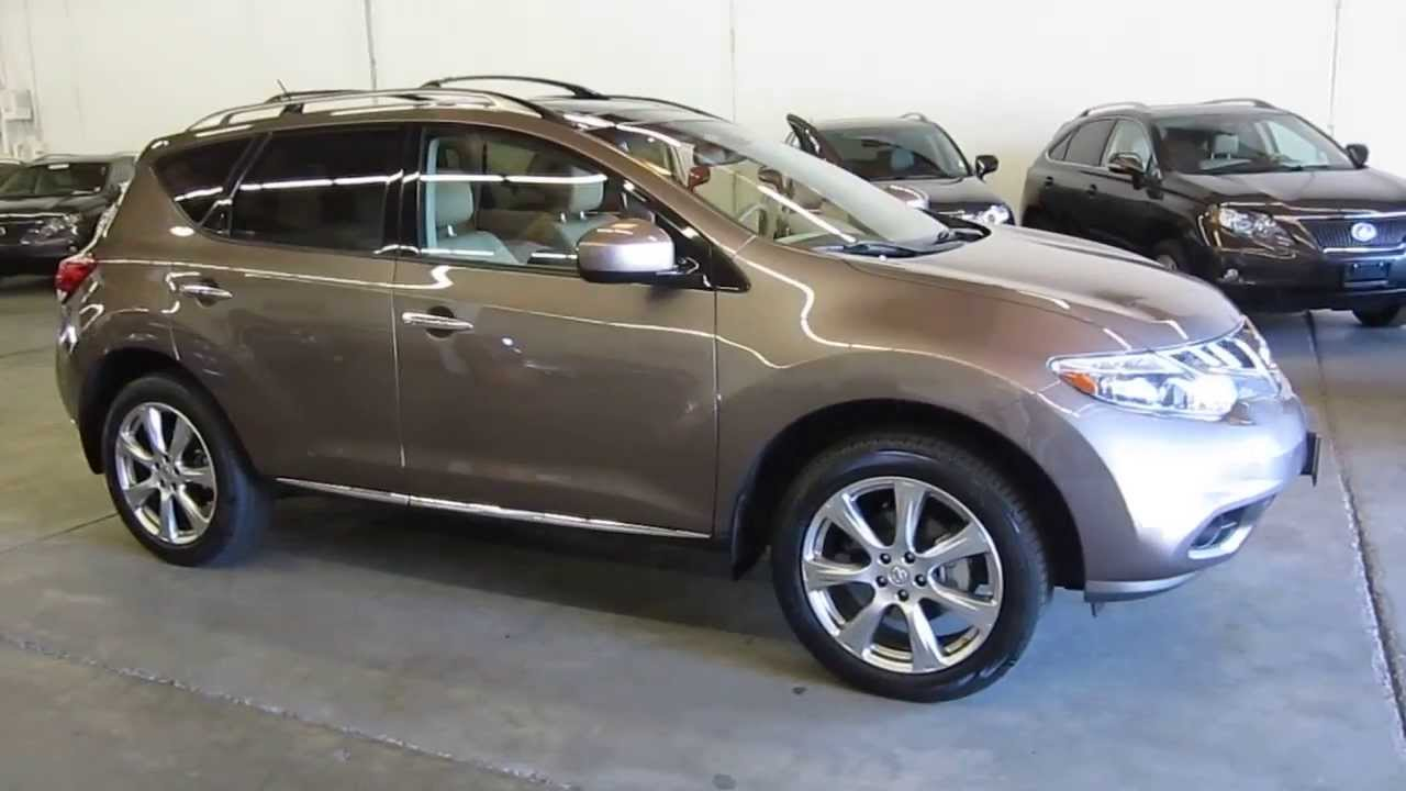 2012 Nissan Murano Tinted Bronze Metallic Stock 208684