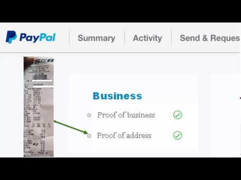How To Verify Your Paypal Business Identity Without Government Issued Business Proof.