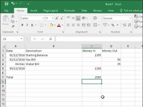 Excel Create an Income and Expenditure Spreadsheet