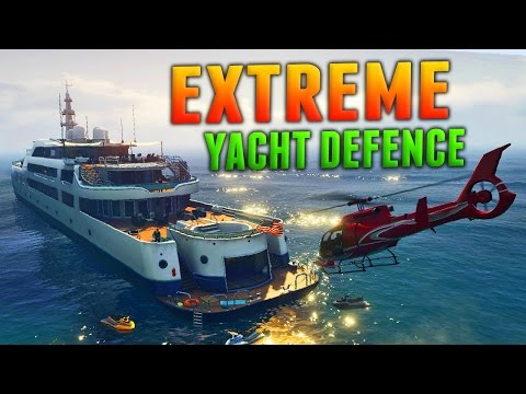 """GTA Online: EXTREME YACHT DEFENCE - """"Piracy Prevention"""" 18 Kills (GTA 5 VIP Mode)"""