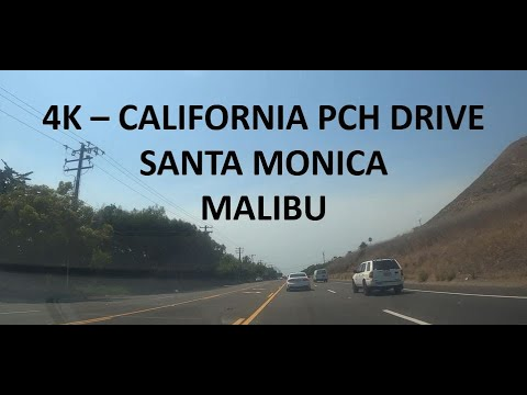 4K- CALIFORNIA PCH DRIVE, SANTA MONICA TO MALIBU