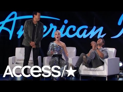 Katy Perry Has A Wardrobe Whoops During 'American Idol'   Access