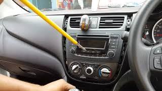 How to open new Maruti Suzuki Celerio and Celerio x music system panel (infotainment system)