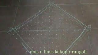 22 dots muggulu | 22 pulli sikku kolam | simple neli kolangal step by step | big dot rangoli designs