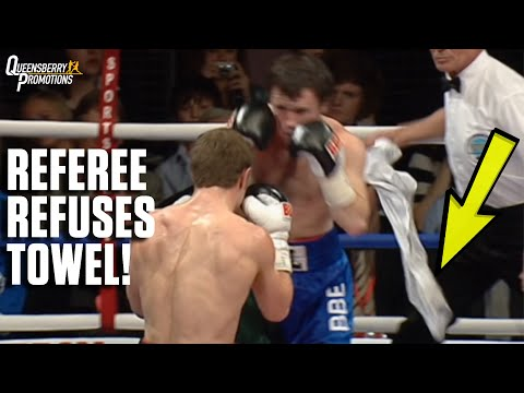 WOW! REFEREE REFUSES TO ACCEPT TOWEL THROWN IN, PROVES IT'S THE RIGHT DECISION! KATSIDIS V EARL
