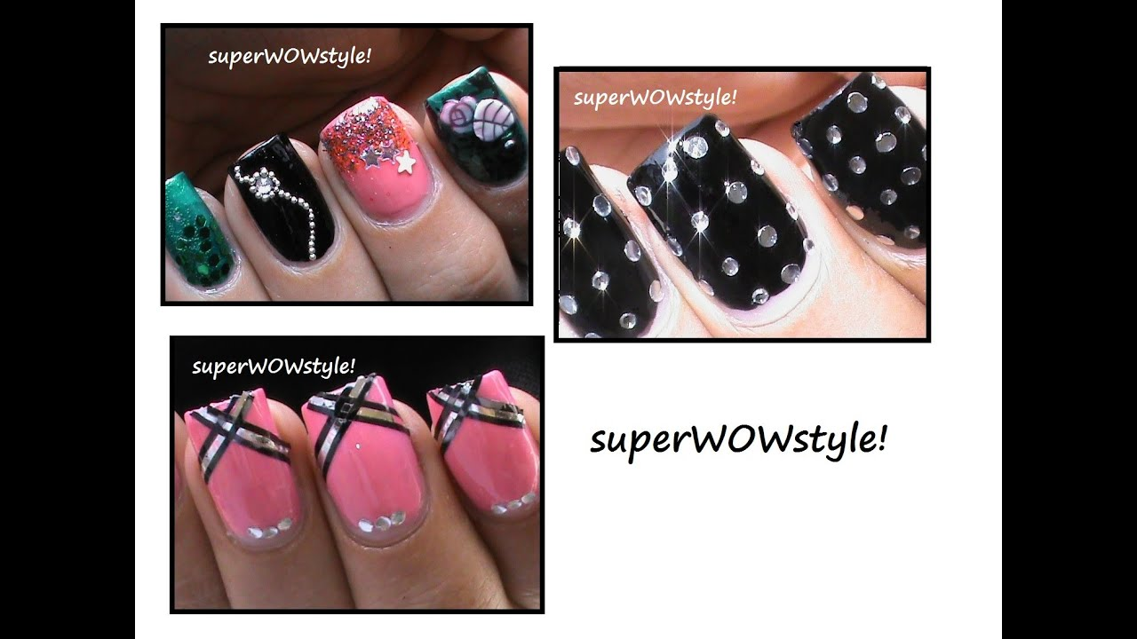 3 Nail Designs !! ✦ New Year\'s Eve - Party Nails in Bling! (2015 ...