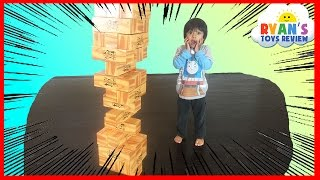 GIANT JENGA XL CardBoard block Family Fun games for kids Eggs Surprise Toys Challenge