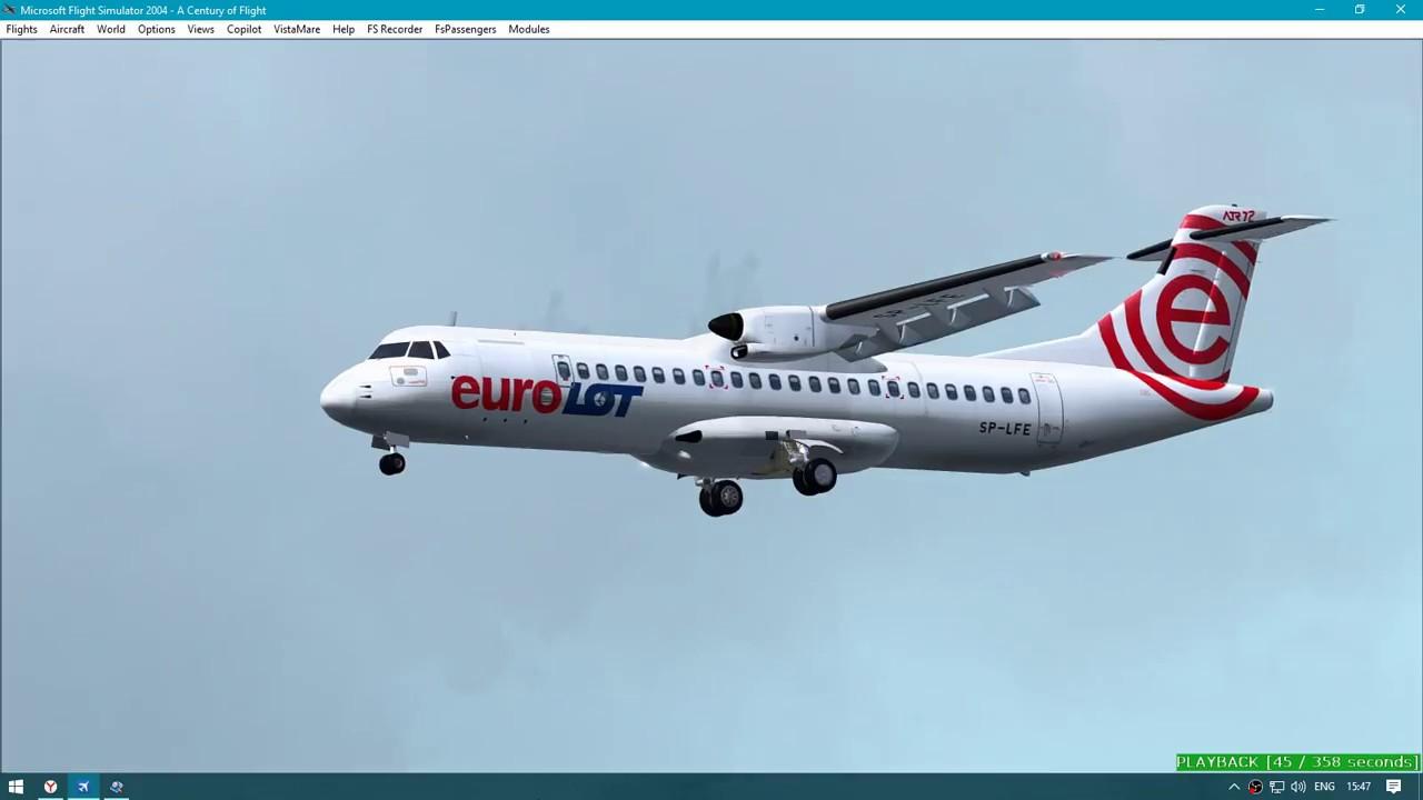 FS9/LOT Polish Airlines ATR 72-500/Warsaw-Frankfurt/landing