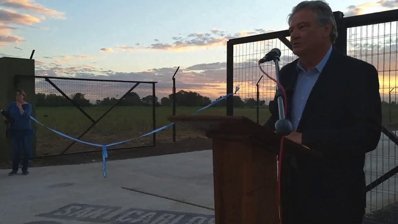 Carlos Fascendini: Se inauguró el galpón comunal