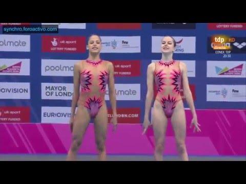 Maria Beatriz Gonçalves/Chelia Vieira (POR) Duet Free Preliminary London European Championships 2016