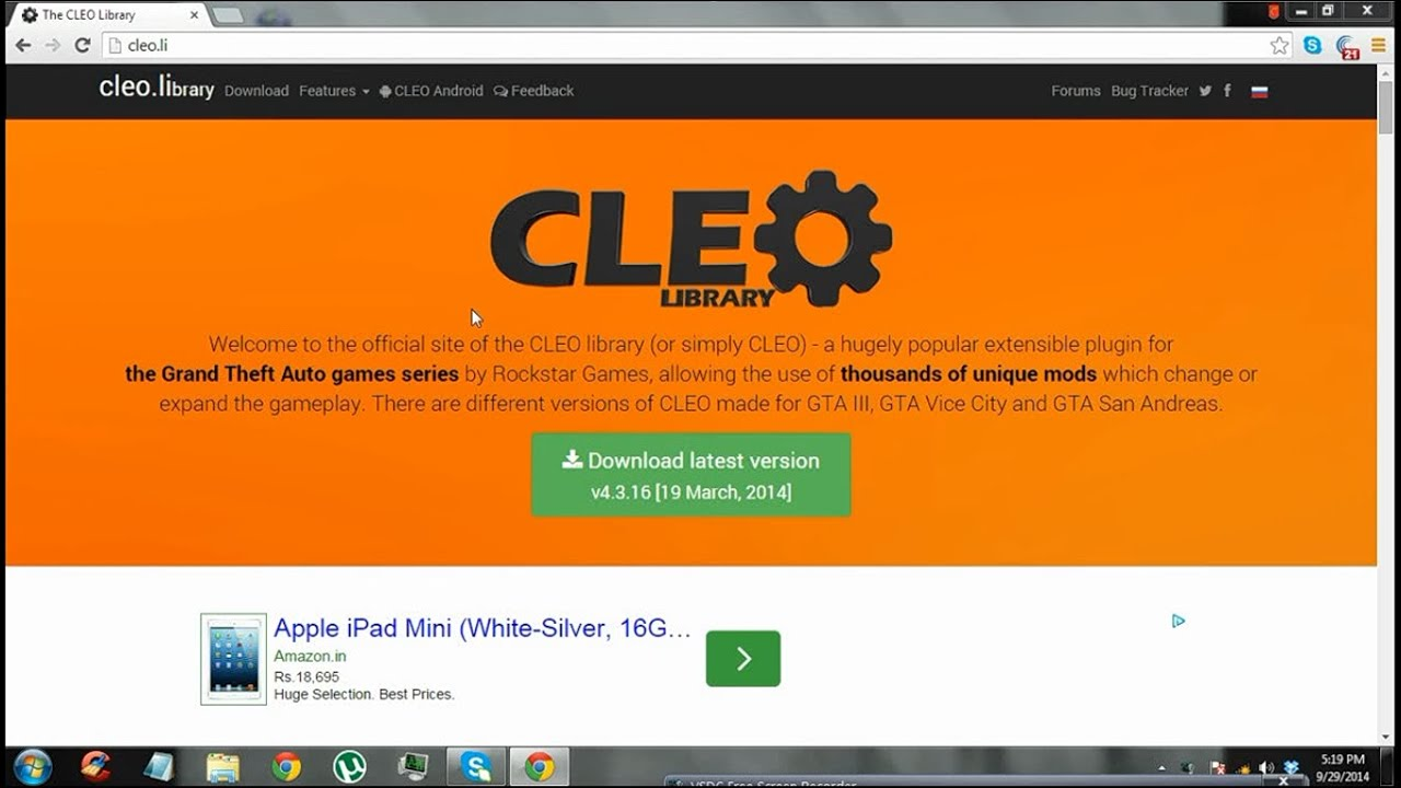 How to install CLEO 4 and Install Cleo Mods in Gta Sanandreas - Easy !!