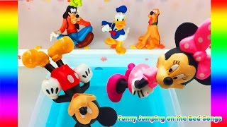 Five Little Mickey Mouse Jumping on the POOL ♫ Minnie Mouse JUMPING ON THE BED SONG