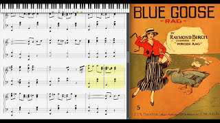 Blue Goose Rag by Charles L. Johnson (1916, Ragtime piano)