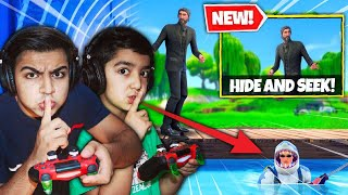 PLAYING FORTNITE HIDE AND SEEK WITH MY 5 YEAR OLD LITTLE BROTHER! | FORTNITE HIDE AND SEEK CHALLENGE