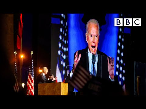 Joe Biden's first speech as US president-elect 🇺🇸 US Election 🔴 @BBC News live - BBC