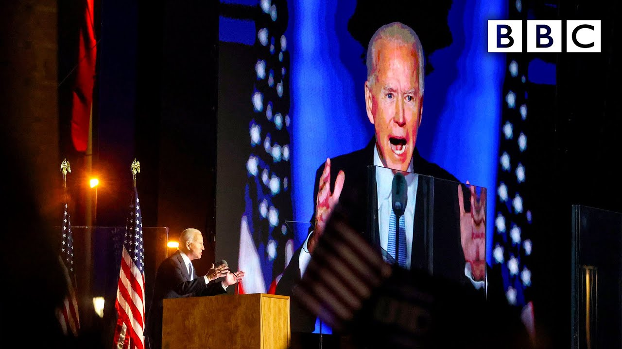 Joe Biden's first speech as US president-elect